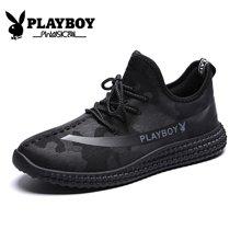 花花公子男鞋男潮鞋休闲运动鞋男士透气迷彩轻便跑步鞋板鞋网布鞋CX39361