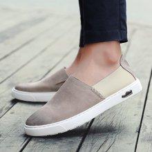 乐福鞋潮鞋板鞋一脚蹬男鞋男士懒人鞋子休闲皮鞋xK0517