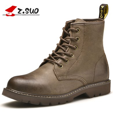 Z.Suo/走索男鞋英倫馬丁靴男潮流工裝靴子男士短靴軍靴高幫情侶款 ZS18520