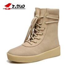 Z.Suo/走索女鞋马丁靴女士短靴英伦雪地女靴子潮流女士休闲鞋系带 ZS18616N