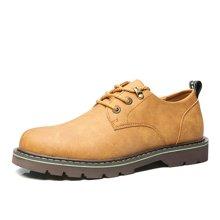 公牛世家男鞋工装鞋男士大头鞋磨砂厚底户外休闲鞋低帮潮鞋子 888492