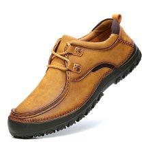 公牛世家男鞋皮鞋时尚户外休闲鞋男士手工潮鞋百搭鞋子男 888471
