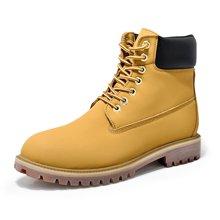 西瑞新款马丁靴时尚大黄靴工装靴防水加毛不加毛男靴情侣靴DK10061