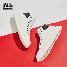 森馬高幫小白鞋男厚底男鞋春季潮鞋2019新款韓版潮流白鞋白色板鞋 118119640