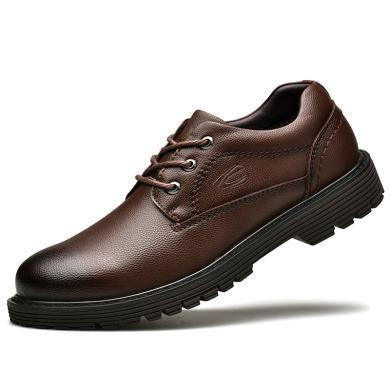 德國駱駝動感男鞋休閑鞋牛皮皮鞋英倫大頭皮鞋男士低幫工裝鞋戶外鞋子 18186