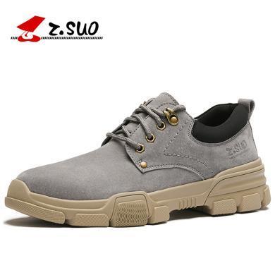 Z.Suo/走索男鞋冬季男士工裝牛皮韓版百搭皮鞋休閑鞋男馬丁潮鞋英倫板鞋 ZS920
