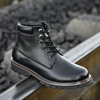 德国骆驼动感韩版潮流加绒保暖英伦皮鞋男士休闲高帮鞋棉鞋马丁靴短靴 18232