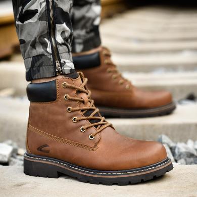德國駱駝動感馬丁靴男潮牛皮靴子冬季男鞋高幫靴工裝靴加絨保暖 18231