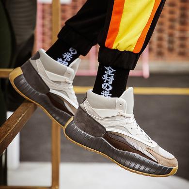 西瑞高幫男靴時尚高幫戶外運動男靴男士跑鞋JLF626
