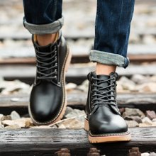 西瑞新款馬丁靴硬漢高幫工裝靴時尚短靴男靴DK9002