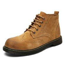西瑞新款休閑男靴休閑潮鞋復古布洛克男士馬丁靴百搭短靴MF8606