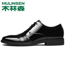 木林森男鞋春季新款休閑鞋時尚百搭頭層牛皮男士英倫商務正裝皮鞋子男Q280033