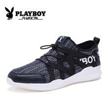 花花公子男鞋2018新款休闲运动鞋透气网布鞋青年飞织板鞋韩版潮流CX39427