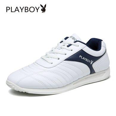花花公子男鞋春季男士新款韩版潮流跑步运动鞋休闲板鞋小白鞋子男W39727