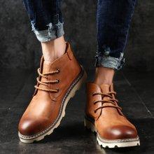 西瑞新款休閑短靴男時尚馬丁靴高幫工裝男鞋工裝靴DK8810