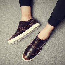 西瑞新款休閑鞋男時尚板鞋布洛克套腳男士板鞋低幫休閑男鞋DK8006