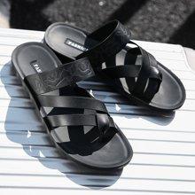西瑞新款休闲凉鞋时尚露趾夹脚沙滩凉鞋拖鞋男DKJ-15P10