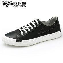 Olunpo/歐倫堡春季新款時尚真皮男鞋日常低幫韓版板鞋休閑鞋 舒適真皮CLQ1702