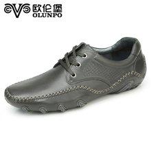 歐倫堡春季新款男士休閑皮鞋男鞋真皮簡約駕車鞋新品潮流鞋 標準碼QHT1445