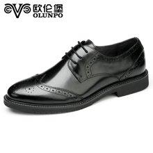 Olunpo/?#20223;妆?#31179;冬新款时尚真皮休闲鞋男 英伦办公商务鞋 QHL1605