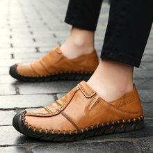 西瑞新款真皮休閑鞋男時尚套腳懶人駕車鞋簡約休閑皮鞋DK2803