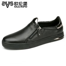 ?#20223;妆?#31179;季新款流行男鞋皮鞋街头时?#34892;?#38386;低帮套脚英伦板鞋男 标?#35745;?#38795;码QMB1608