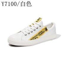帆布鞋男春季新款低帮系带社会小伙鞋韩版休闲学生布鞋男士帆Y7100