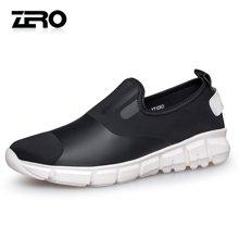 Zero零度运动休闲鞋男 2017新品春季男士圆头套脚舒适户外休闲鞋