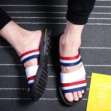 西瑞新款三条带凉鞋男时尚沙滩凉鞋户外运动凉鞋DK2136