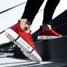 OKKO新款男鞋爆款透气运动飞织休闲鞋低帮板鞋男网鞋X129