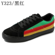 春季帆布鞋男士韩版潮学生ulzzang拼色鞋百搭男鞋子原宿板鞋Y323