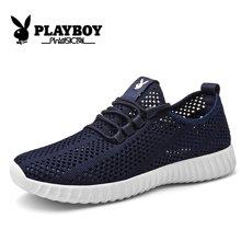 花花公子男鞋运动休闲鞋日常潮流青年跑步鞋网布网面透气CX39473