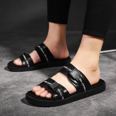 西瑞夏季新款涼鞋男時尚戶外拖鞋沙灘休閑兩條帶涼拖男MFA16