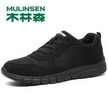木林森男鞋秋季透气网布鞋新款黑色软底网面运动休闲潮鞋子 270059