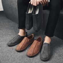 Simier男鞋2018秋韩版休闲鞋纯手工缝线休闲鞋X225