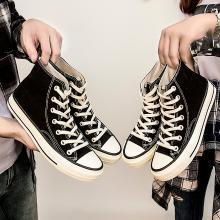 西瑞新款情侣帆布鞋高帮休闲板鞋经典复古布鞋男女鞋MN864