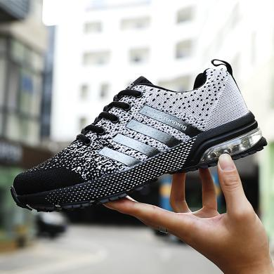 西瑞新款情侣运动鞋?#38041;?#20869;增高气垫休?#34892;信?#36305;鞋DK8702