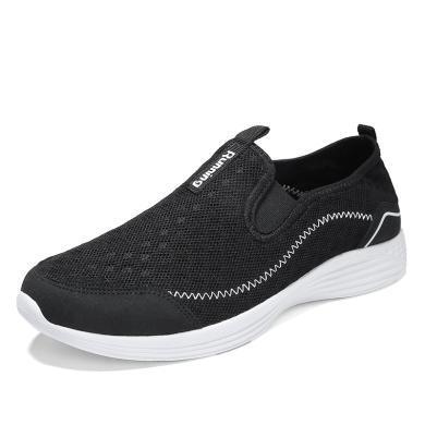 中年男士父亲鞋老北京布鞋2018新款40-50岁中老年夏季透气爸爸鞋wk881