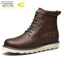 德國駱駝動感馬丁靴男士短靴英倫復古工裝頭層牛皮韓版沙漠靴機車靴軍靴 18225