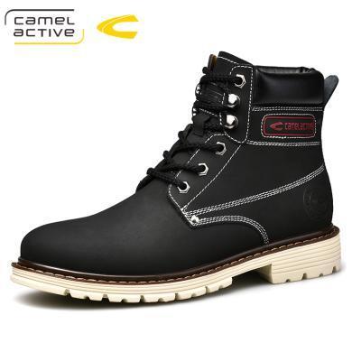 德國駱駝動感馬丁靴男士短靴英倫工裝男靴子復古軍靴中高幫鞋 18198