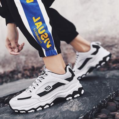 西瑞新款網布拼接厚底運動鞋時尚增高戶外跑鞋休閑男鞋YG655