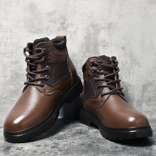 公牛世家男鞋工装鞋牛皮商务休闲鞋英伦棉鞋保暖鞋高帮鞋加绒鞋子 888640
