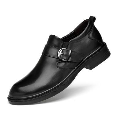 公牛世家?#34892;?#33521;伦时尚商务正装皮鞋套脚牛皮鳄鱼纹?#34892;?9521