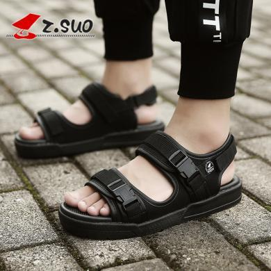 Z.Suo/走索男士涼鞋夏季潮流外穿羅馬涼鞋男沙灘鞋休閑鞋子 ZS18928