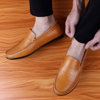 SIMIER新款套腳休閑鞋男時尚懶人駕車鞋豆豆鞋男TZ1988