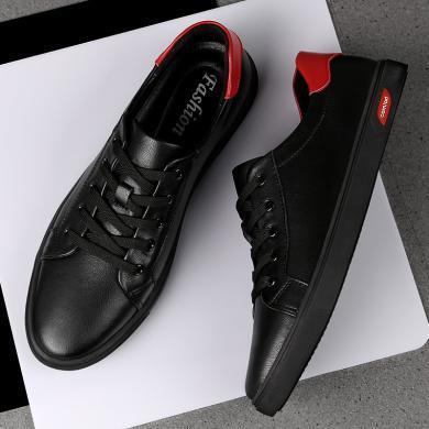 SIMIER新款套脚休闲新款休闲鞋男时尚百搭拼接板鞋低帮小白鞋TZ8922
