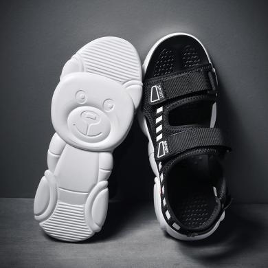 SIMIER新款休閑男士涼鞋小熊底運動涼鞋男JP-PW028