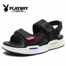 花花公子男鞋夏季运动凉鞋增高休闲鞋男士2019新款?#38041;?#38450;滑沙滩鞋CX9572