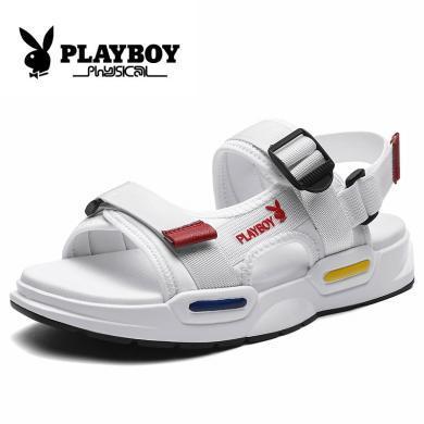 花花公子男鞋夏季運動涼鞋增高休閑鞋男士2019新款透氣防滑沙灘鞋CX9572
