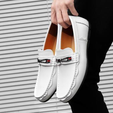 SIMIER新款套腳休閑鞋簡約百搭懶人豆豆鞋加車男鞋TZ19106